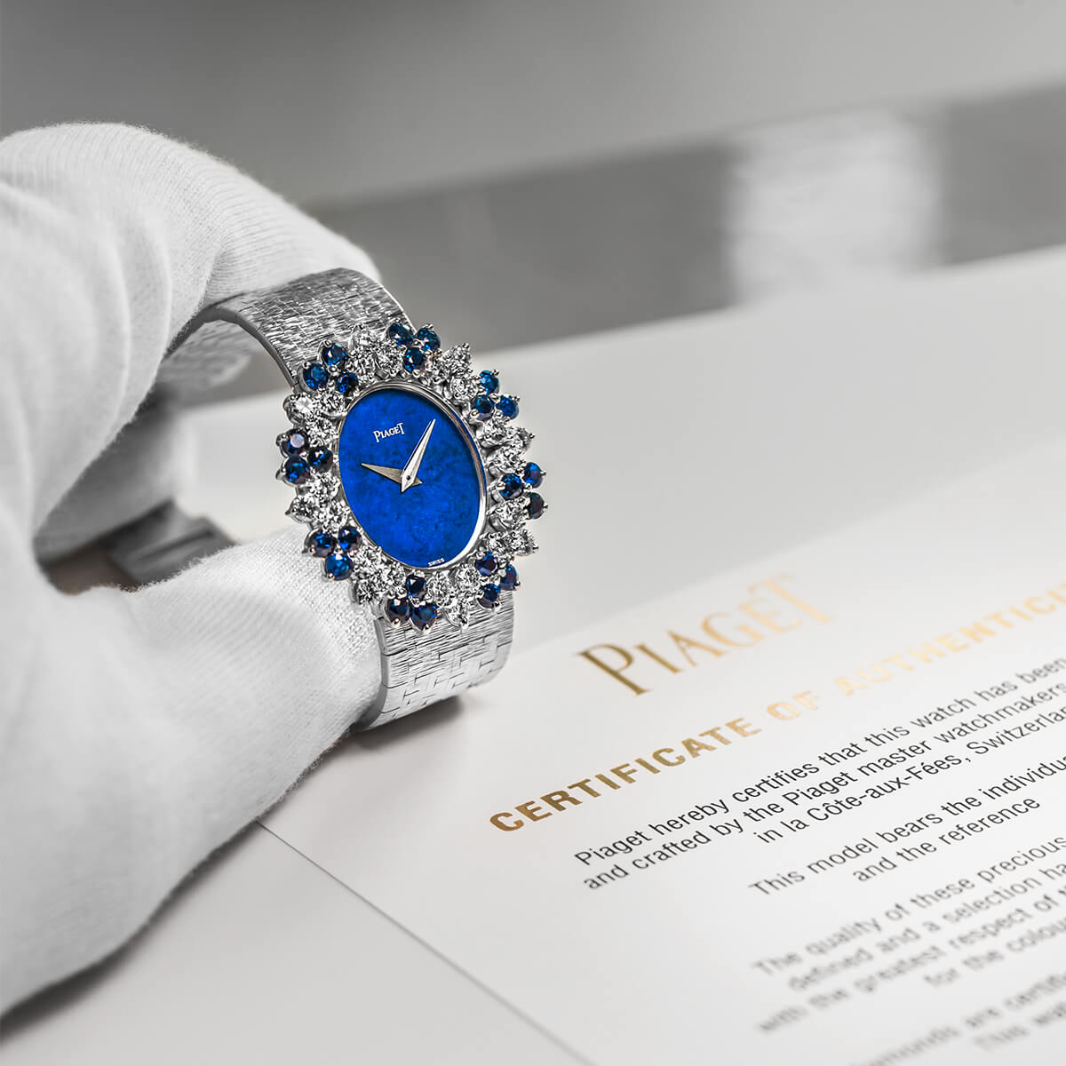 Piaget high-end watches certificates